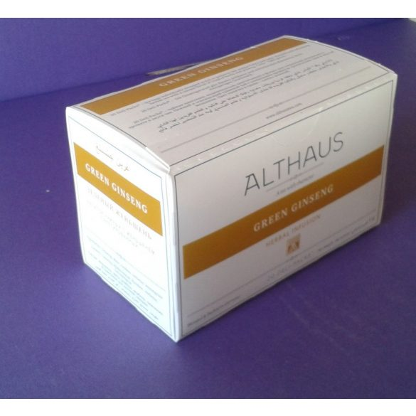 Althaus Green Ginseng tea 20 filter/doboz