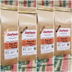 San Paolo Chocolate, Haselnuts, Irish cream, Caramel - 4* 250g (csokis, mogyorós, ír krém, karamell  ízesítésű őrölt kávékülönlegességek)
